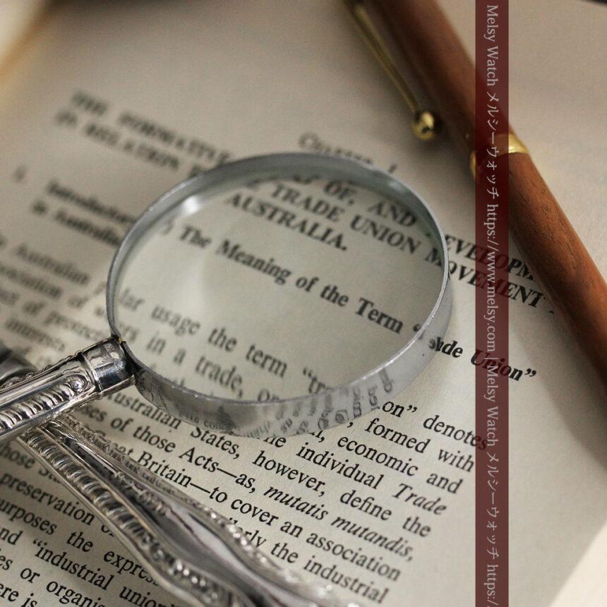 英国の銀製アンティーク虫眼鏡とレターオープナーセット 【1926年頃】-A0305-9