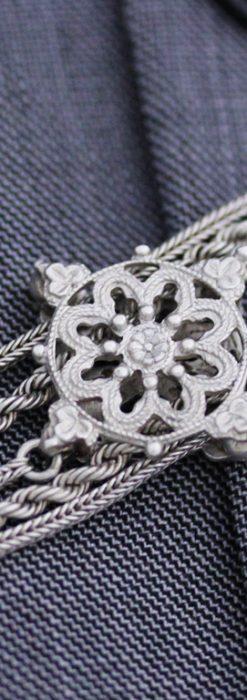 銀無垢アンティーク懐中チェーン-C0408-5