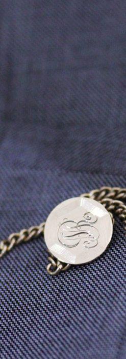 飾りボタンアンティーク懐中チェーン-C0410-1