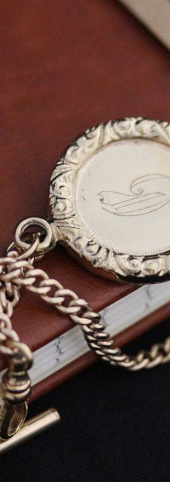アンティーク懐中時計チェーン-C0417-1