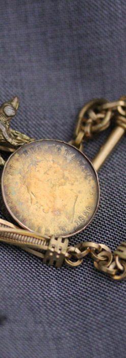 アンティーク懐中時計チェーン-C0422-1