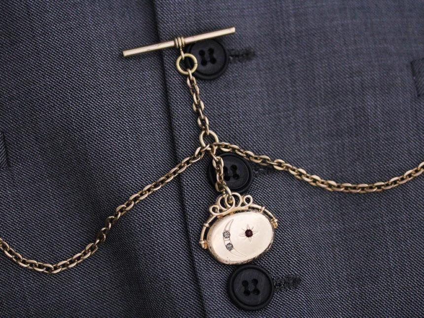 アンティーク懐中時計チェーン-C0430-1