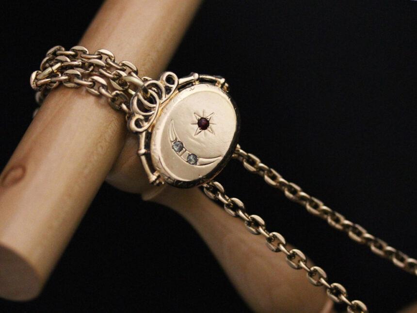 アンティーク懐中時計チェーン-C0430-2