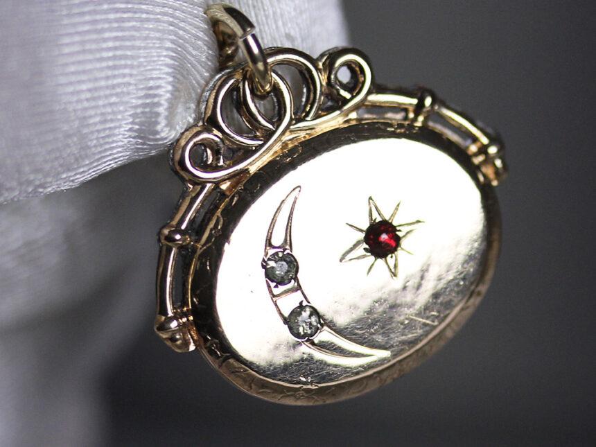 アンティーク懐中時計チェーン-C0430-6
