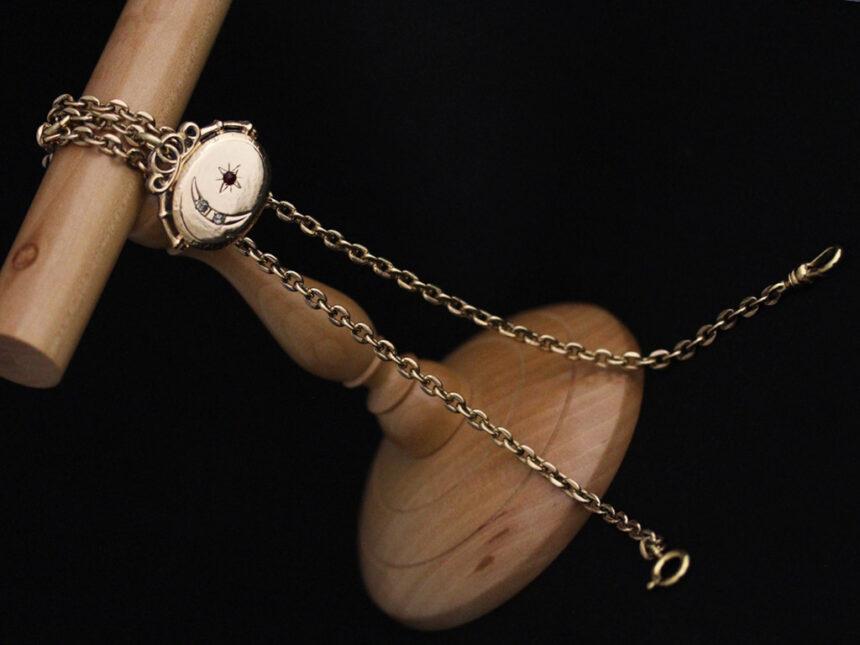 アンティーク懐中時計チェーン-C0430-8
