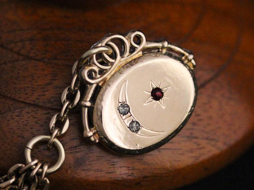 アンティーク懐中時計チェーン-C0430-9