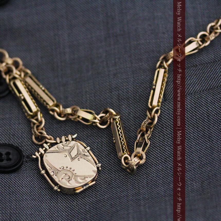 アンティーク懐中時計チェーン-C0441-3