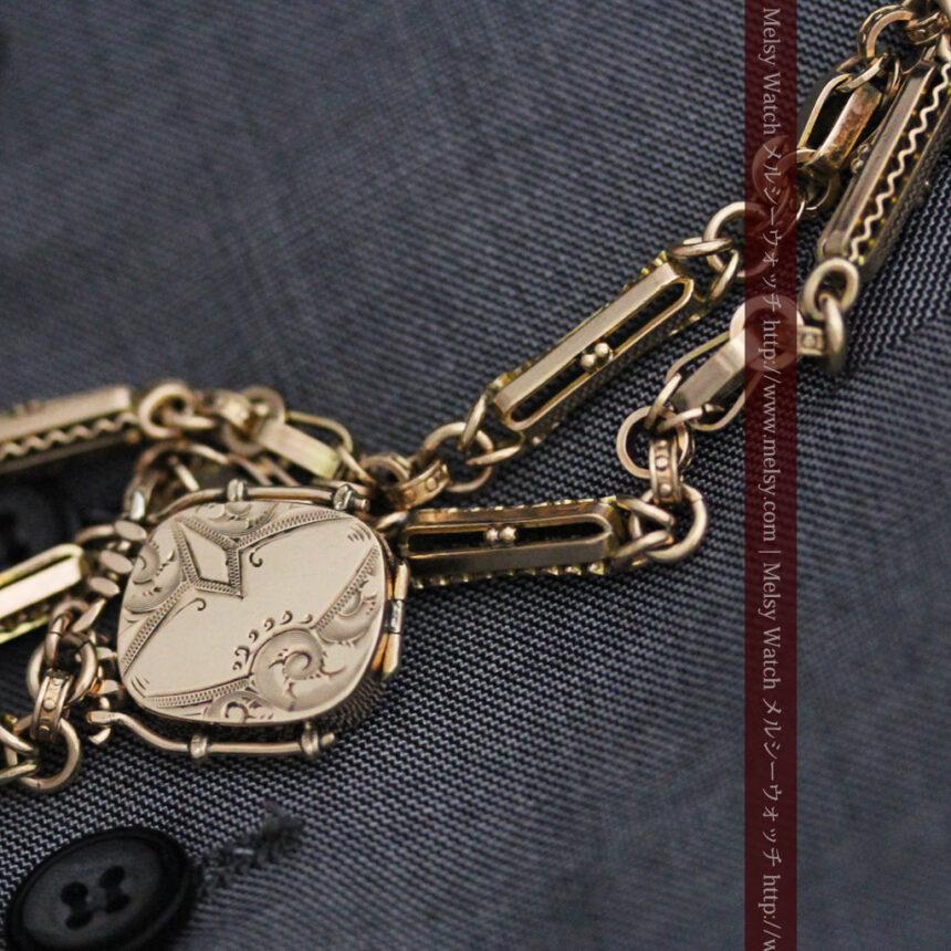 アンティーク懐中時計チェーン-C0441-4