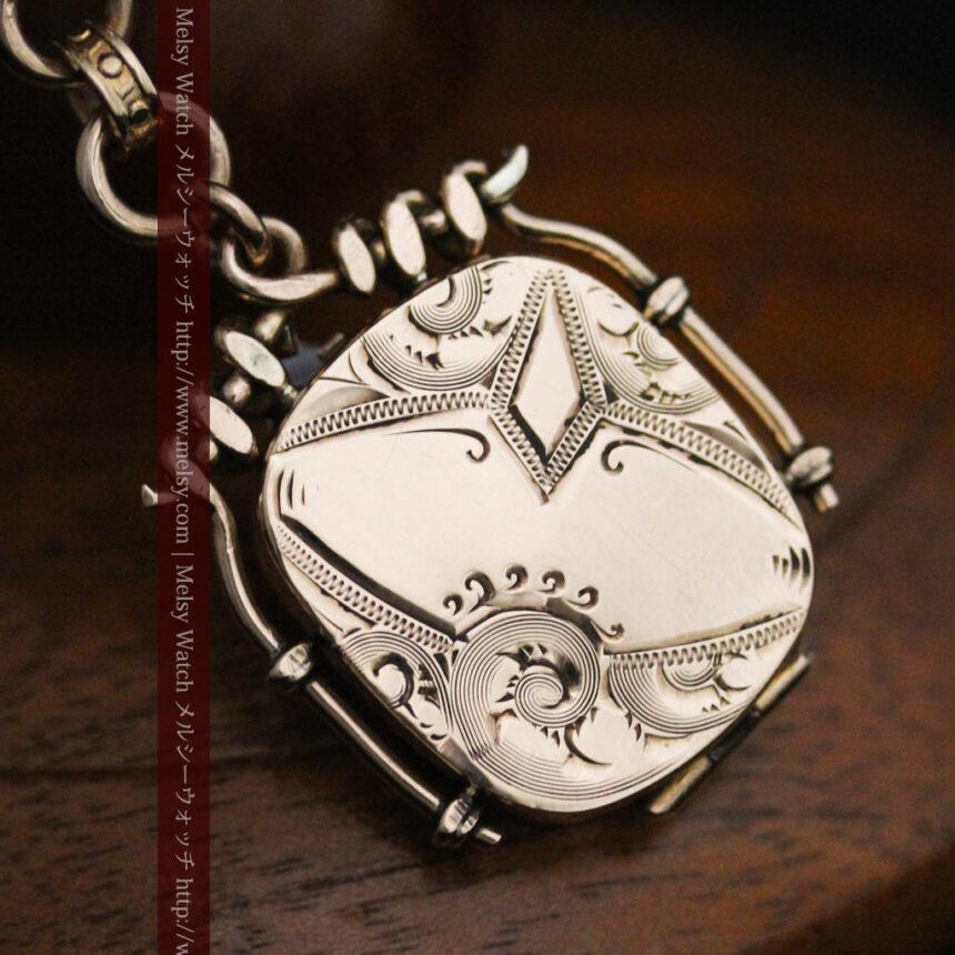 アンティーク懐中時計チェーン-C0441-6