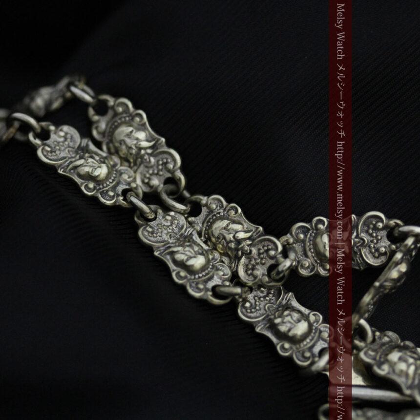 アンティーク懐中時計チェーン-C0443-5