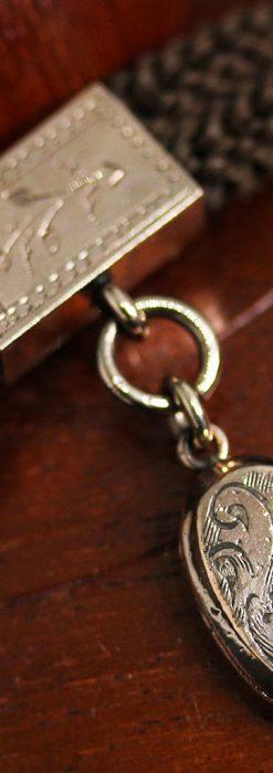 髪の毛で編んだ懐中時計用アンティーク紐-C0446-10