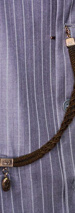 髪の毛で編んだ懐中時計用アンティーク紐-C0446-4
