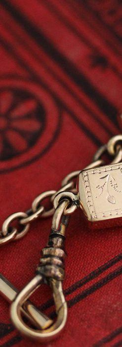 髪の毛で編んだ懐中時計用アンティーク紐-C0446-8