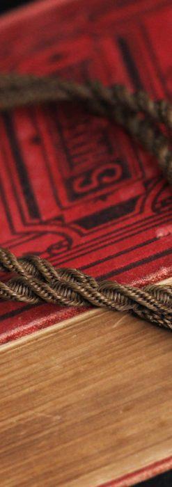髪の毛で編んだ懐中時計用アンティーク紐-C0446-9