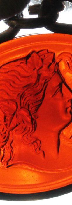 懐中時計チェーンのガラス飾り-C0448-1