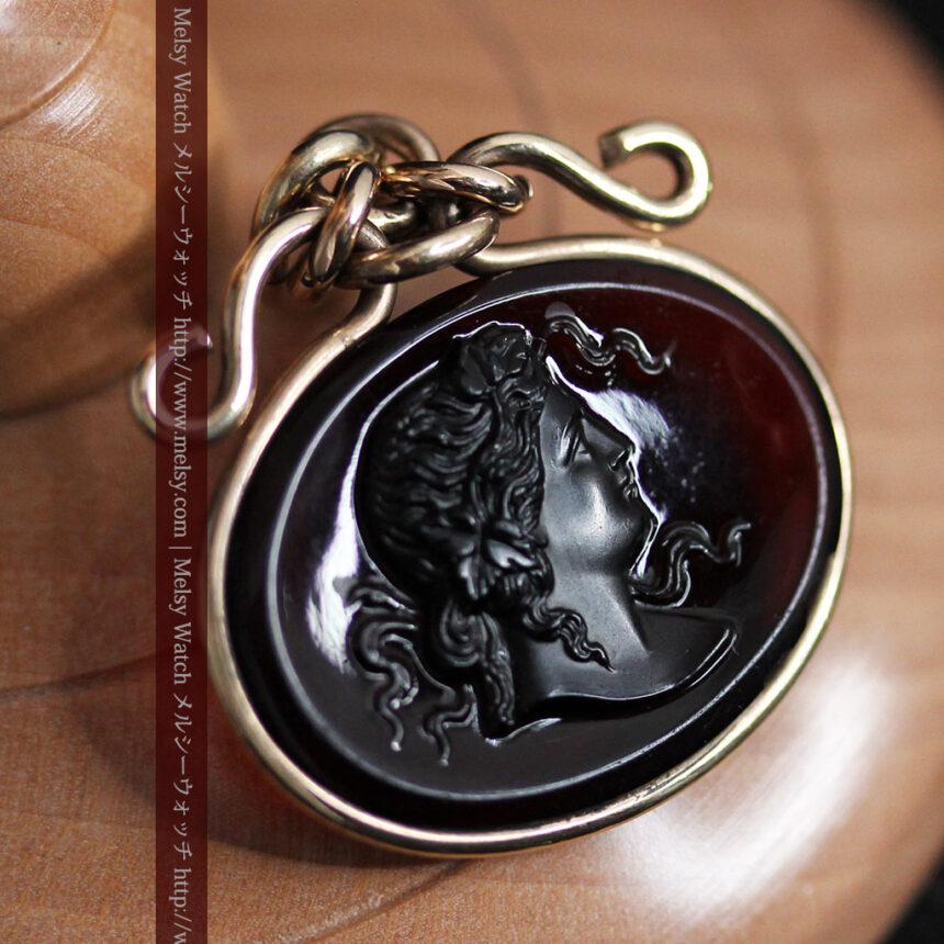 懐中時計チェーンのガラス飾り-C0448-2