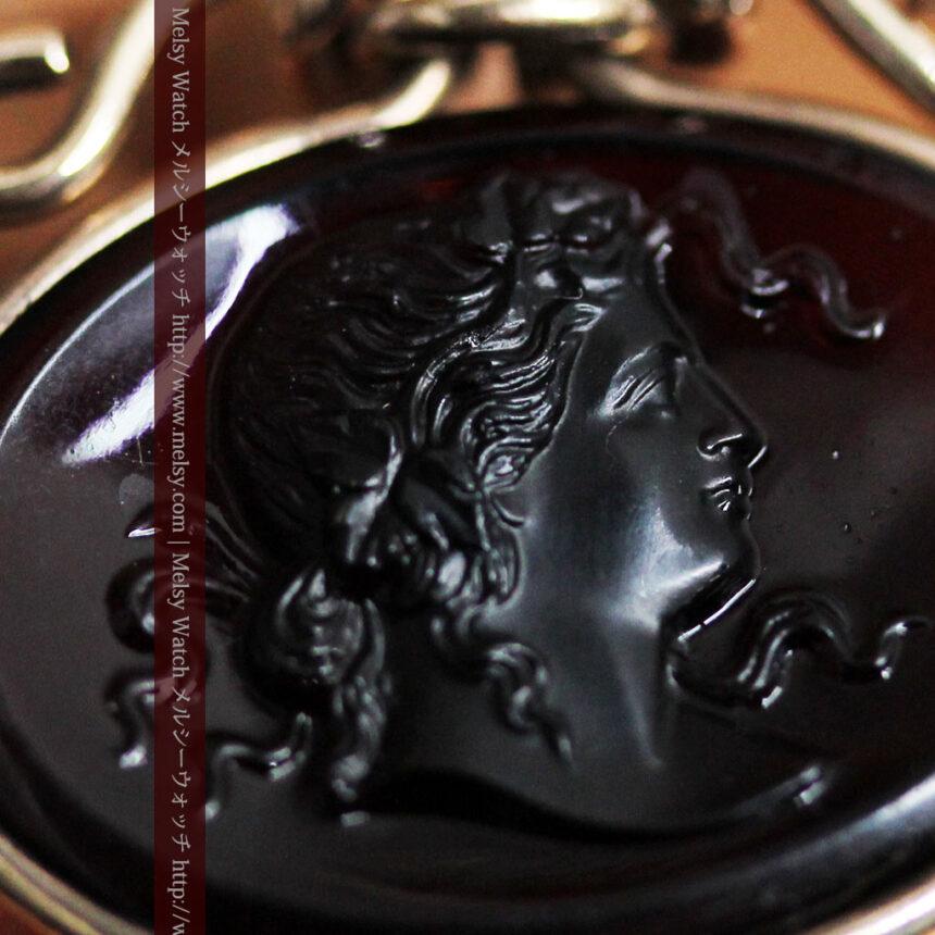 懐中時計チェーンのガラス飾り-C0448-3