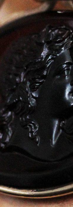 懐中時計チェーンのガラス飾り-C0448-4