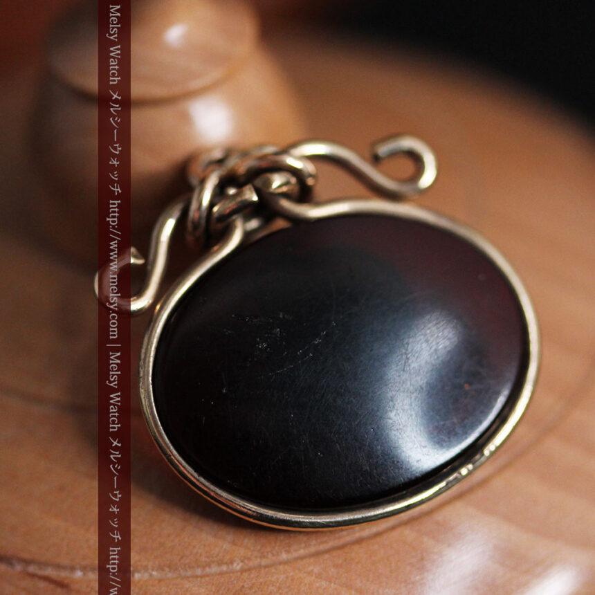 懐中時計チェーンのガラス飾り-C0448-5