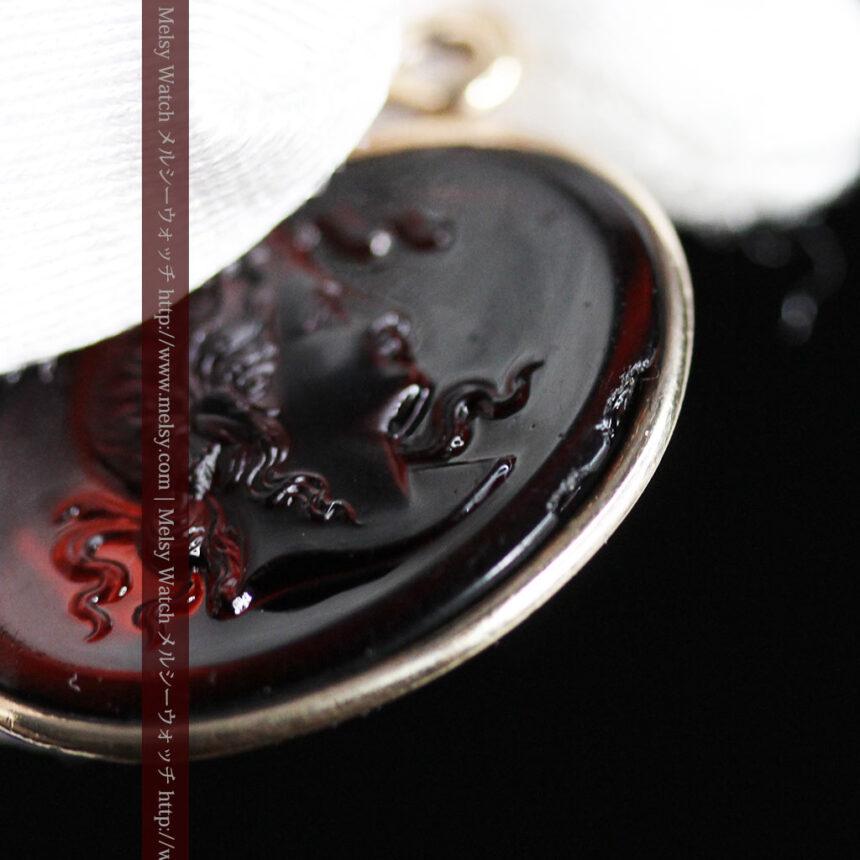 懐中時計チェーンのガラス飾り-C0448-6