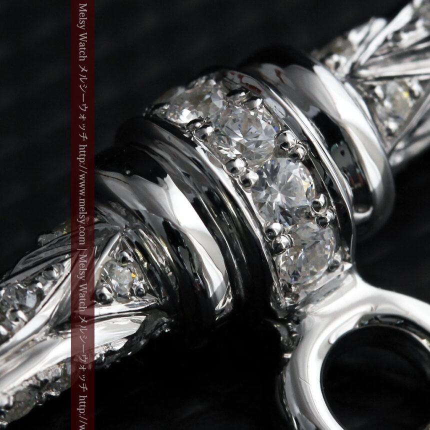 懐中時計チェーン用T字バー・金無垢ダイヤモンド-C0451-11