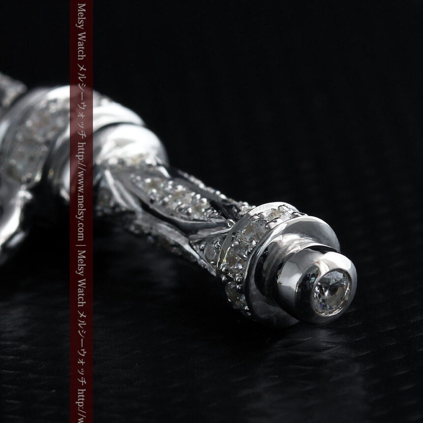 懐中時計チェーン用T字バー・金無垢ダイヤモンド-C0451-13