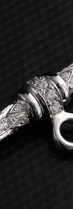 懐中時計チェーン用T字バー・金無垢ダイヤモンド-C0451-7