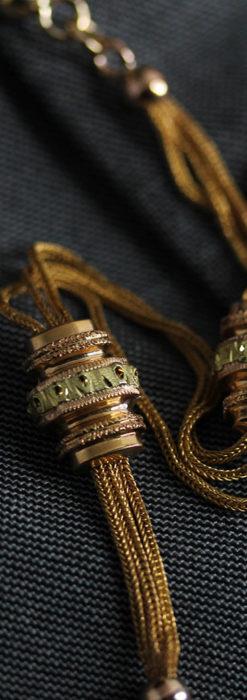 非常に希少な品格漂う18金無垢アンティーク懐中時計チェーン-C0463-2
