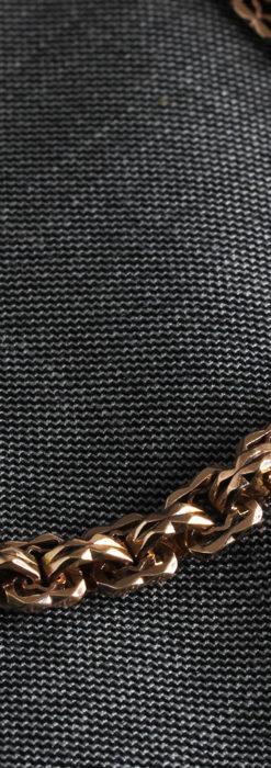 雰囲気ある西欧フランスのアンティーク懐中時計チェーン-C0474-5