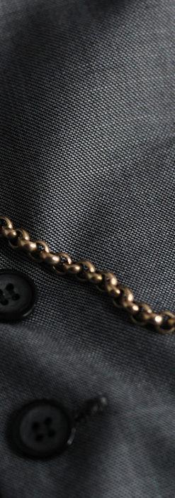 存在感ある大きなリングが付いたアンティーク懐中時計チェーン-C0475-1