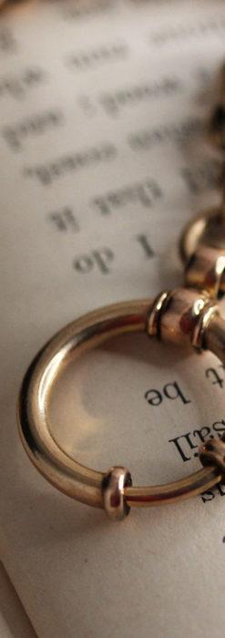 存在感ある大きなリングが付いたアンティーク懐中時計チェーン-C0475-7