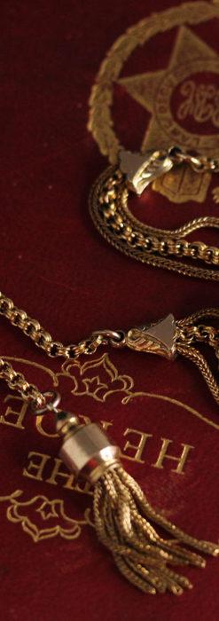 華やかさと上品さを併せ持つ、美しきアンティーク懐中時計チェーン-C0477-10