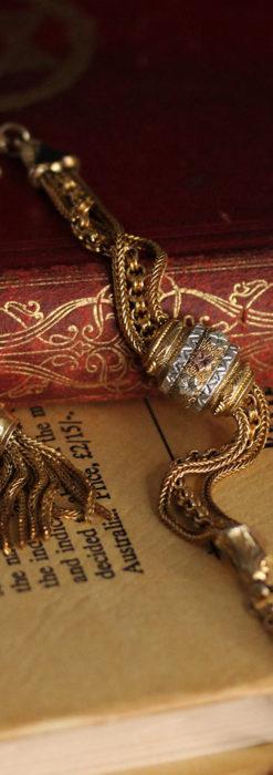 華やかさと上品さを併せ持つ、美しきアンティーク懐中時計チェーン-C0477-11