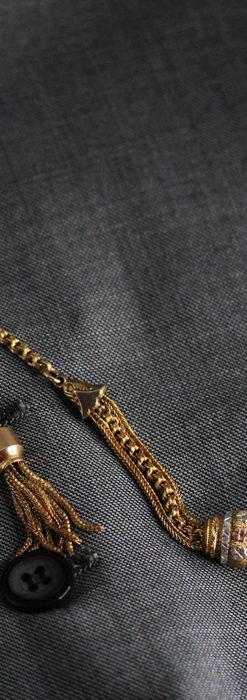 華やかさと上品さを併せ持つ、美しきアンティーク懐中時計チェーン-C0477-3