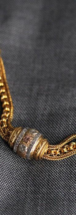 華やかさと上品さを併せ持つ、美しきアンティーク懐中時計チェーン-C0477-6