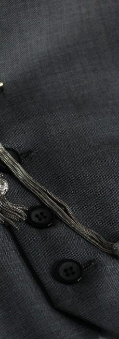 立体的な青い飾りの綺麗な銀のアンティーク懐中時計チェーン-C0482-1