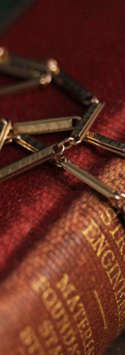 装飾の綺麗な細めの懐中時計チェーン-C0484-1