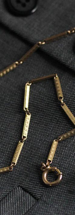 装飾の綺麗な細めの懐中時計チェーン-C0484-10