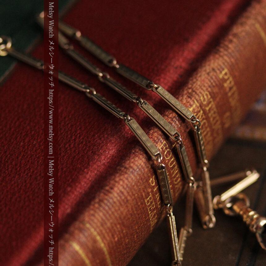 装飾の綺麗な細めの懐中時計チェーン-C0484-2