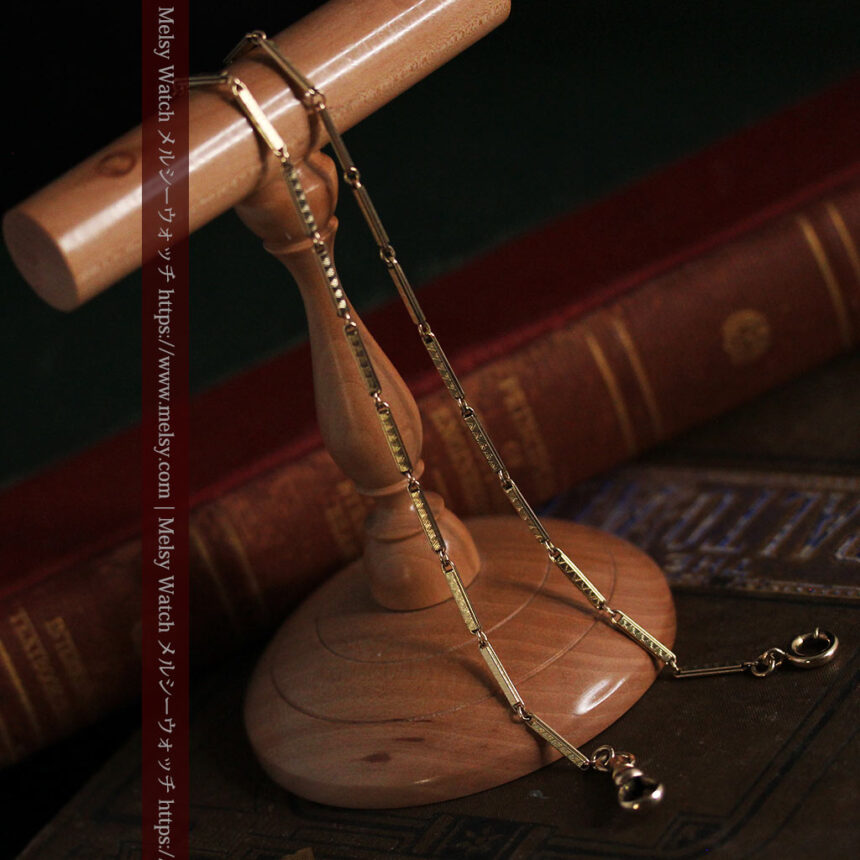 装飾の綺麗な細めの懐中時計チェーン-C0484-4