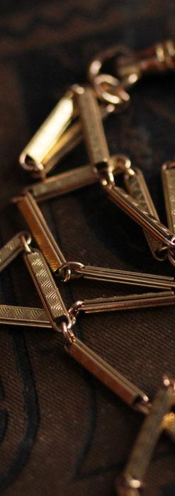 装飾の綺麗な細めの懐中時計チェーン-C0484-5