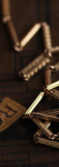 装飾の綺麗な細めの懐中時計チェーン-C0484-6