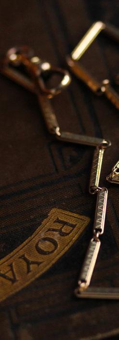 装飾の綺麗な細めの懐中時計チェーン-C0484-7