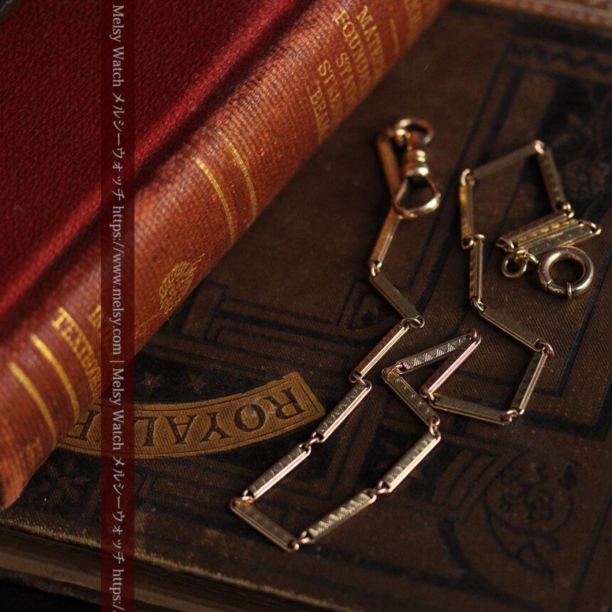 装飾の綺麗な細めの懐中時計チェーン-C0484-8