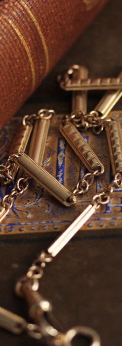 2種類の装飾されたバーの綺麗な懐中時計チェーン-C0485-1