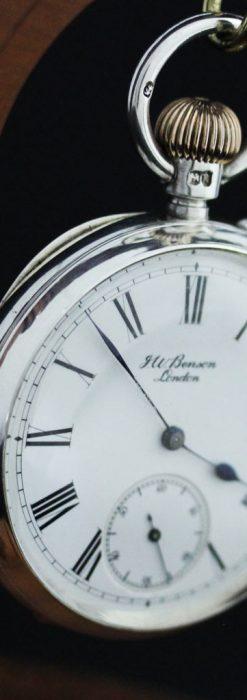ベンソン&ロンジンのアンティーク懐中時計-P2064-10