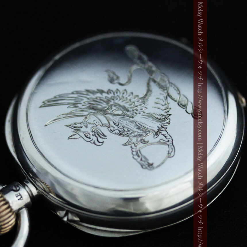 ベンソン&ロンジンのアンティーク懐中時計-P2064-12