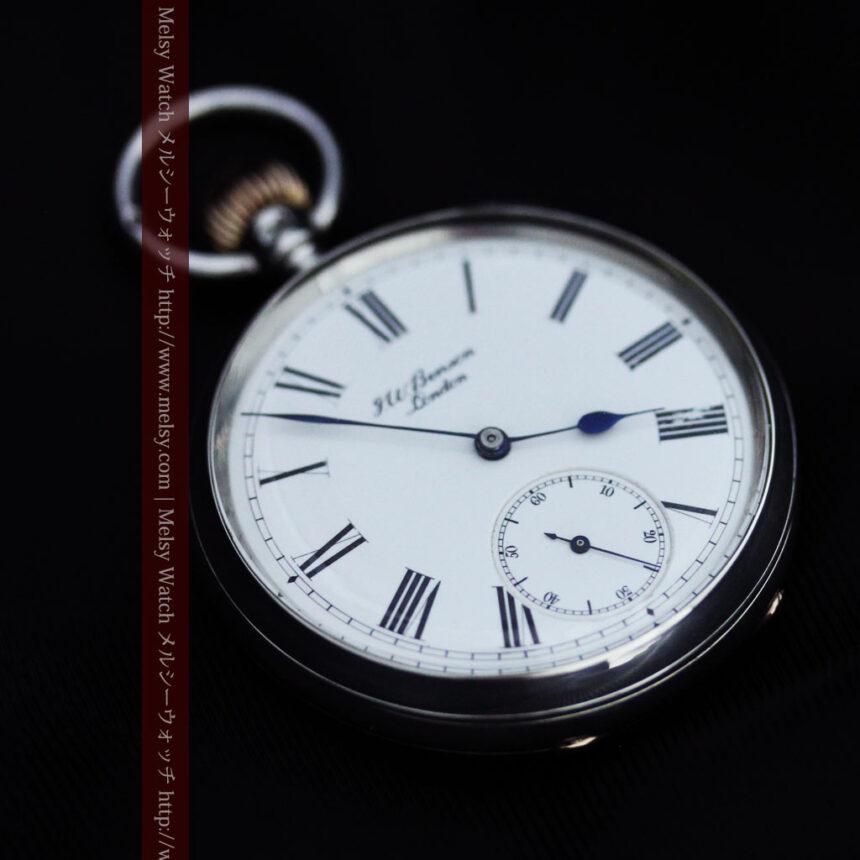 ベンソン&ロンジンのアンティーク懐中時計-P2064-14