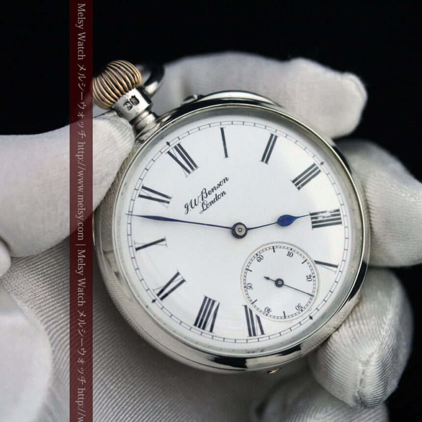 ベンソン&ロンジンのアンティーク懐中時計-P2064-15