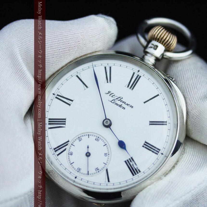 ベンソン&ロンジンのアンティーク懐中時計-P2064-16